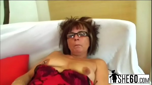 Granny, Granny masturbation, Old man, Stockings