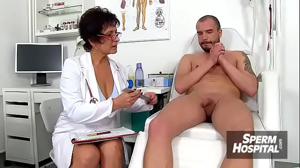 Mom, Exam, Mom young boy, Mature handjob, Lady boy, Cum on boobs