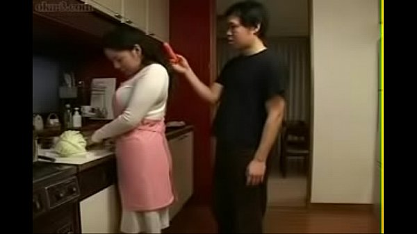 Japanese mom, Boy milf, Young boy, Mom in kitchen, Japan mom