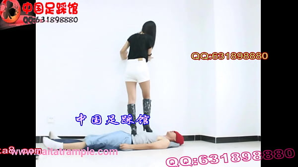 Femdom foot, Boots, Trampling, Chinese foot