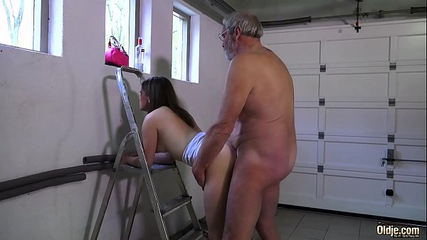 Young beauty, Grandpa, Licking